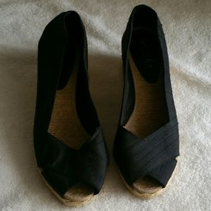 Ralph Lauren Peep Toe Wedges (Size 8)